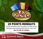 2X Points Mondays